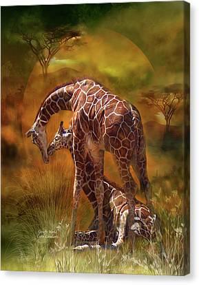 Giraffe World Canvas Print by Carol Cavalaris