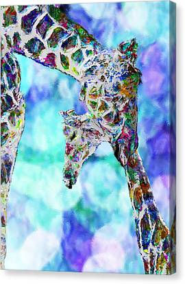 Giraffes - Happened At The Zoo Canvas Print by Jack Zulli
