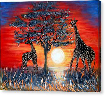 Giraffes. Inspirations Collection. Canvas Print