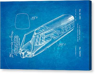 Girardy Railway Observation Car Patent Art 1951 Blueprint Canvas Print by Ian Monk
