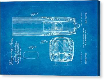 Girardy Railway Observation Car Patent Art  3 1951 Blueprint Canvas Print by Ian Monk