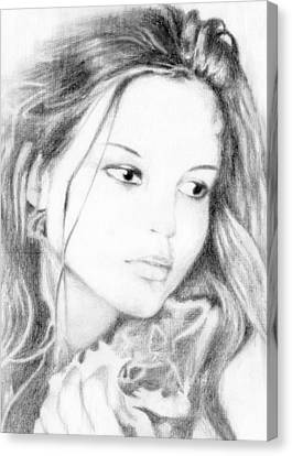 Girl Canvas Print by Ahmed Amir