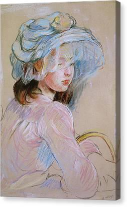 Girl Carrying A Basket Canvas Print by Berthe Morisot