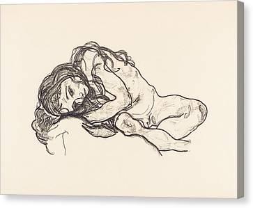 Girl Canvas Print by Egon Schiele