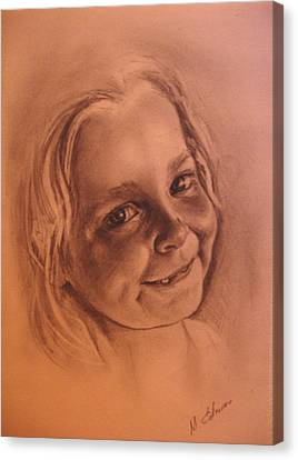 Girl From Neighbourhood Arisha Canvas Print