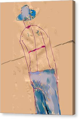Girl From The Back Canvas Print by Margie Lee