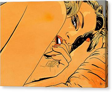 Girl In Bed 1 Canvas Print by Giuseppe Cristiano
