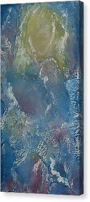 Canvas Print featuring the mixed media Girl In Lace by Angela Stout