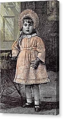 Girl In St Michaels Orphanage Sevenoaks Kent Britain 1892 Canvas Print by English School
