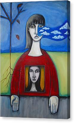 Girl In The Window Canvas Print by Roy Guzman