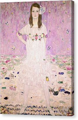 Girl In White Canvas Print by Celestial Images