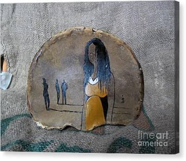 Girl In Yellow Canvas Print by Ildiko Decsei