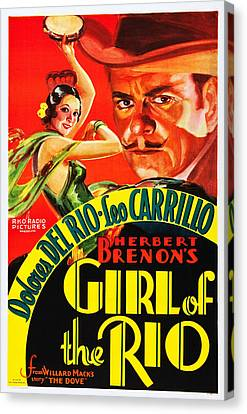 Dolores Canvas Print - Girl Of The Rio, Us Poster, From Left by Everett