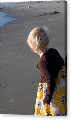 Canvas Print featuring the photograph Girl On Beach II by Greg Graham