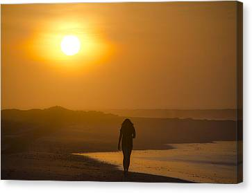 Girl On The Beach  Canvas Print by Bill Cannon
