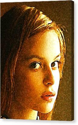 Girl Sans Canvas Print by Richard Thomas