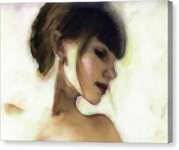 Girl Study Canvas Print by Gun Legler