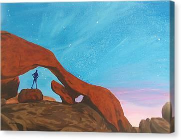 Girl Under Stars Canvas Print by Glenn Harden
