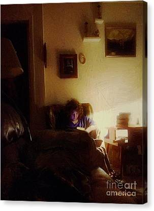 Girl With A Book Canvas Print by RC deWinter