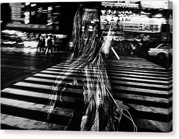 Ghost Canvas Print - Girl With Cigarette by Tatsuo Suzuki