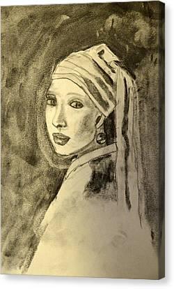 Girl With Earring Canvas Print by Daniele Fedi