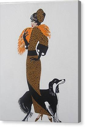 Girl With Orange Fur Canvas Print