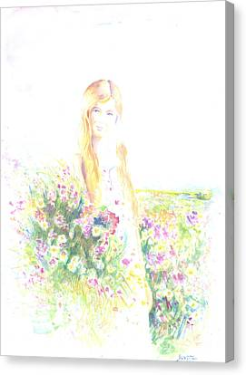 Girl With Red Hair Canvas Print by Jovica Kostic