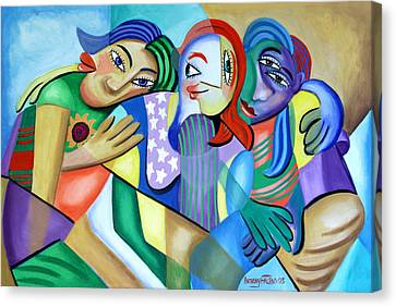 Girlfriends Canvas Print by Anthony Falbo