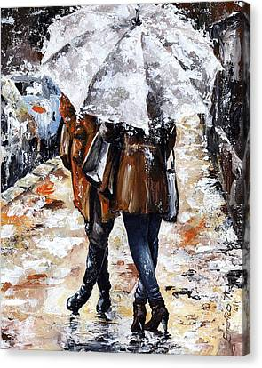 Girlfriends Canvas Print by Emerico Imre Toth