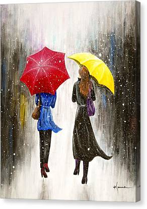Girlfriends Canvas Print by Kume Bryant