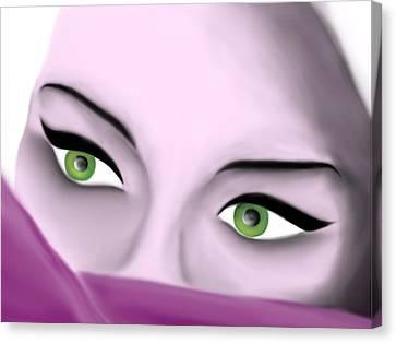 Girl's Eyes Canvas Print by Sara Ponte