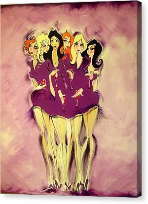 Girls Night Out Canvas Print by Diane Lane