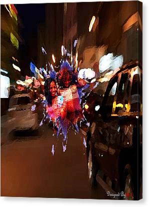 Lil Wayne Art Canvas Print - Girls Night Out by HI Designs Amor Blu Group LLC