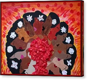 Girls On Fire Canvas Print by Clarissa Burton