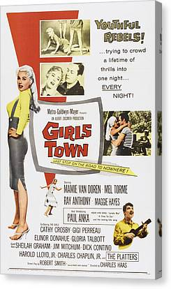 Girls Town, Us Poster, Mamie Van Doren Canvas Print by Everett