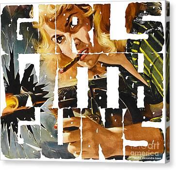 Girls With Guns Logo Canvas Print