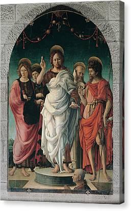 Girolamo Da Cremona, Salvator Mundi Canvas Print by Everett