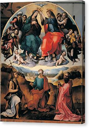 Girolamo Del Pacchia, Coronation Canvas Print by Everett