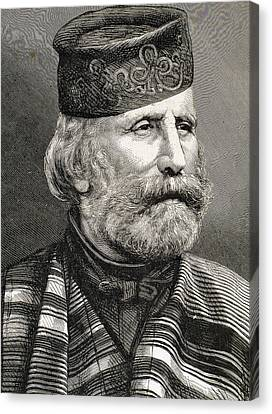 Giuseppe Garibaldi Canvas Print by Bridgeman Images