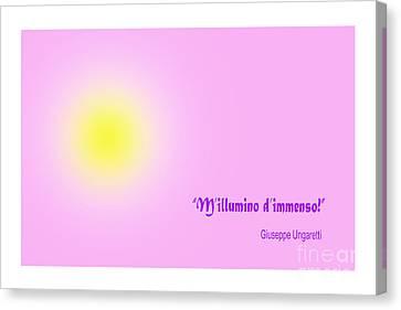 Giuseppe Ungaretti Famous Poem Canvas Print by Enrique Cardenas-elorduy