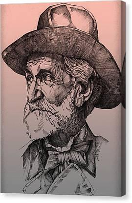 Giuseppe Verdi Canvas Print by Derrick Higgins