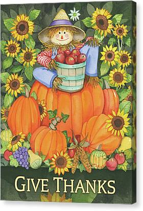 Give Thanks Canvas Print by Kathleen Parr Mckenna