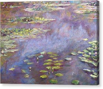 Giverny Nympheas Canvas Print by David Lloyd Glover