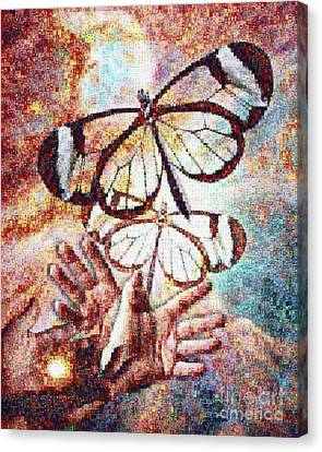 Transformation Canvas Print - Giving Transforms The Giver by Robert Silvers Photomosaic from Anne Watson Composition