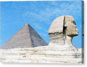 Canvas Print featuring the photograph Giza by Cassandra Buckley