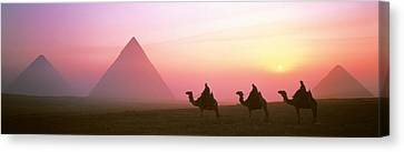 Giza Pyramids Egypt Canvas Print by Panoramic Images