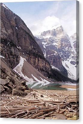 Glacial Debris Canvas Print by Jenny Hudson