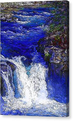 Glacial Flow-2 Canvas Print