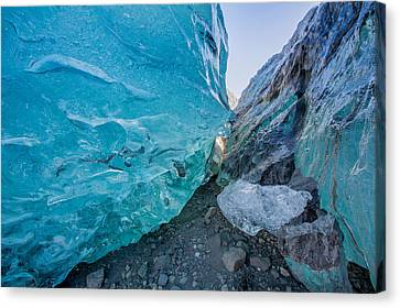 Glacial Ice Cave, Svinafellsjokull Canvas Print by Panoramic Images
