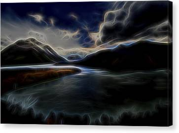 Canvas Print featuring the digital art Glacial Light 1 by William Horden